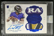 2018 Flawless Lamar Jackson RC Rookie Auto 4-Color Patch /3 Uncirculated
