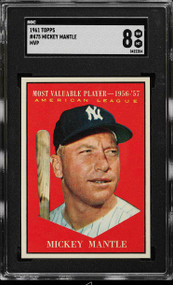 1961 Topps Mickey Mantle MVP #475 SGC 8-Centered & High-End