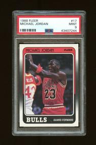 1989 Fleer Michael Jordan #17 HOF PSA 9 Mint-Centered