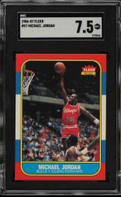 1986 Fleer Michael Jordan #57 HOF SGC 7.5-Centered & High-End