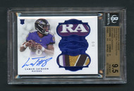 2018 Flawless Lamar Jackson Rookie RC 5-Color Patch Auto RPA /3 BGS 9.5 Gem Mint