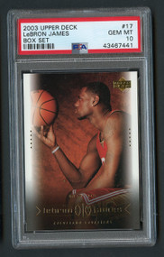 2003 Upper Deck Lebron James RC Rookie BOX #17 PSA 10 Gem Mint