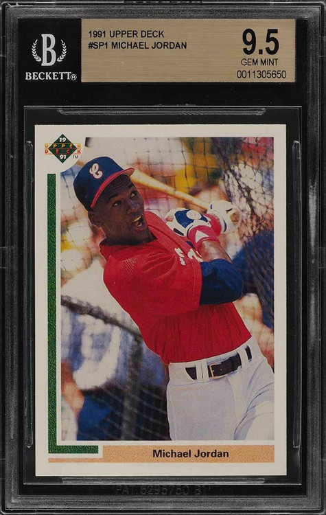 1991 Upper Deck Michael Jordan RC Rookie Baseball #SP1 BGS 9.5 10 Gem Mint