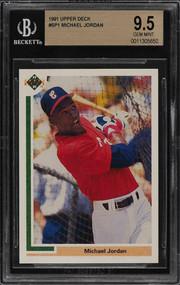 1991 Upper Deck Michael Jordan RC Rookie Baseball #SP1 BGS 9.5 10 Gem Mint