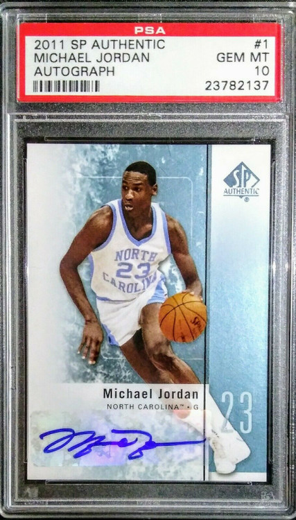 2011 SP Authentic Michael Jordan Auto #1 PSA Gem MInt