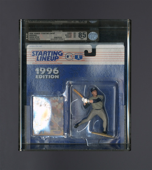 1996 Starting Lineup Derek Jeter Rookie Figue (NIB AFA 85 NM+)