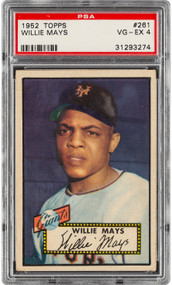 1952 Topps Willie Mays Rookie RC #261 HOF PSA 4-Centered