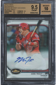 2012 Finest Mystery Mike Trout Rookie RC Auto #3 /100 BGS 9.5 Gem Mint w/10 sub