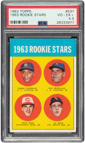 1963 Topps Pete Rose RC Rookie #537 PSA 4.5-Centered