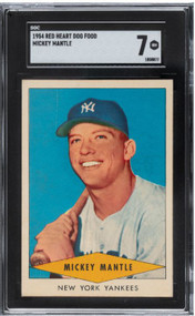 1954 Red Heart Mickey Mantle HOF SGC 7-Centered & High-End