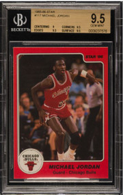 1985 Star Michael Jordan Rookie RC #117 HOF BGS 9.5 Gem Mint