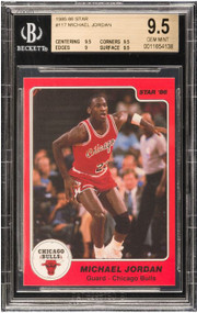 1985 Star Michael Jordan RC Rookie #117 HOF BGS 9.5 Gem Mint