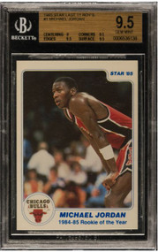 "1985 Star Michael Jordan RC Rookie #1 ""Last 11 ROY's"" BGS 9.5 Gem Mint"