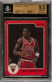 1986 Star Michael Jordan Rookie RC #3 BGS Gem Mint