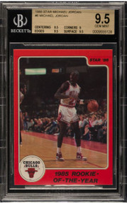 1986 Star Michael Jordan RC Rookie #6 BGS 9.5 Gem Mint