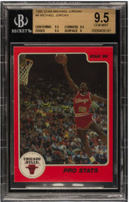1986 Star Michael Jordan RC Rookie #4 BGS 9.5 Gem Mint