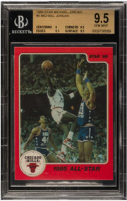1986 Star Michael Jordan RC Rookie #5 BGS 9.5 Gem Mint