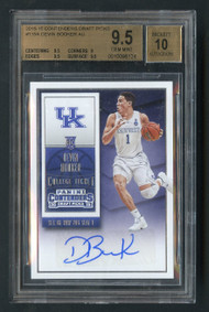 2015 Contenders Draft Picks Devin Booker RC Rookie Auto BGS 9.5 Gem Mint