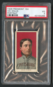 1909 T206 Vic Willis Portrait PSA 3 HOF-Higher-End Look