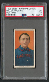 1909 T206 Sweet Corporal Miller Huggins Portrait HOF PSA 3-High-End