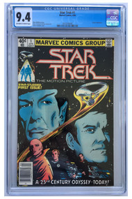 4/1980 Marvel Comics Star Trek #1 CGC 9.4 Off-White to White