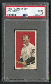 1909 T206 Piedmont 350 Joe Kelley HOF PSA 2