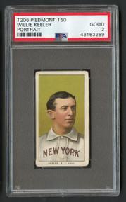 1909 T206 Piedmont 150 Willie Keeler Portrait HOF PSA 2