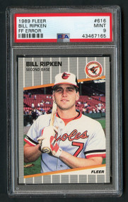 1989 Fleer Bill Ripken FF Error PSA 9 Mint