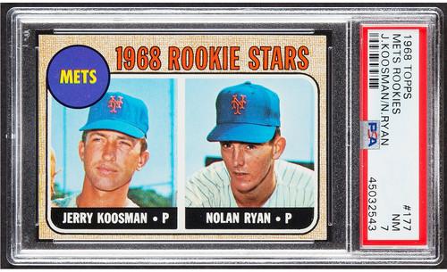 1968 Topps Nolan Ryan Rookie RC #177 PSA 7-Centered & High-End