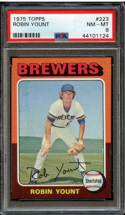 1975 Topps Robin Yount RC Rookie #223 HOF PSA 8 - Centered & High-End