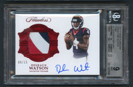 2017 Flawless Deshaun Watson Rookie RC Patch Auto RPA /15 BGS 9 Mint