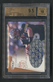 2001 Sage Drew Brees Rookie RC Auto Bronze /500 BGS 9.5 Gem Mint