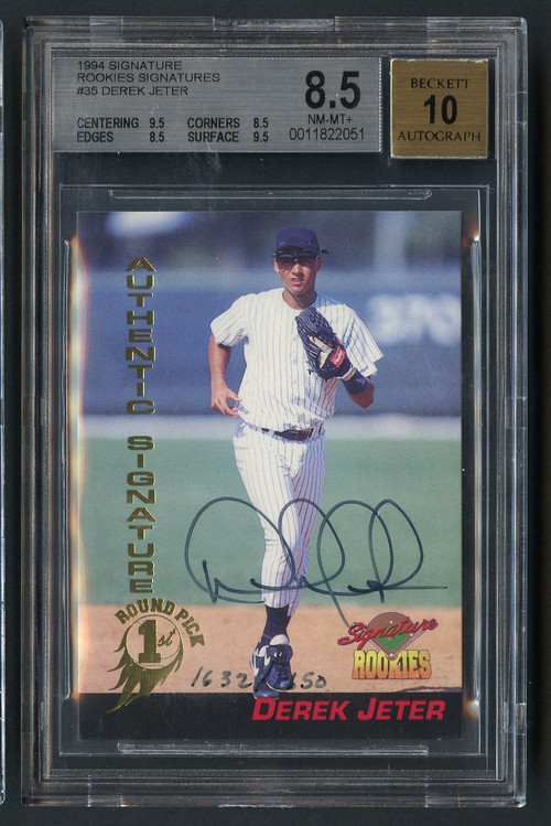 1994 Signature Derek Jeter Rookies Signatures Auto BGS 8.5 with 10 Auto