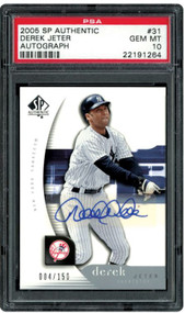 2005 SP Authentic Derek Jeter Auto /155 PSA 10 Gem Mint
