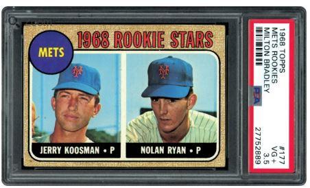 1968 Topps Milton Bradley Nolan Ryan Rookie RC #177 HOF PSA 3.5 - Centered Variation