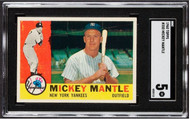 1960 Topps Mickey Mantle #350 HOF SGC 5-Centered