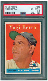 1958 Topps Yogi Berra #370 HOF PSA 6.5-Centered & High-End