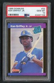 1989 Donruss Ken Griffey Jr Rookie RC #33 HOF PSA 10 Gem Mint