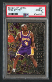 1996 Fleer Metal Kobe Bryant Rookie RC #181 PSA 10 Gem Mint