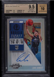2018 Contenders Optic Luka Doncic Rookie RC Auto BGS 9.5 Gem Mint