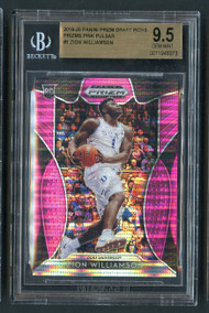 2019 Prizm Pink Pulsar Zion Williamson Rookie RC Insert BGS 9.5 Gem Mint