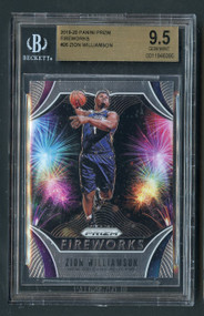 2019 Prizm Fireworks Zion Williamson Rookie RC BGS 9.5 Gem Mint