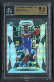 2019 Prizm Draft Silver Zion Williamson Rookie RC BGS 9.5 Gem Mint