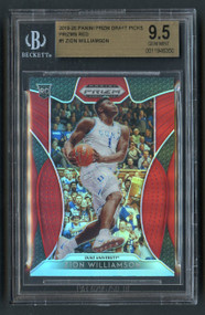 2019 Prizm Draft Red Zion Williamson Rookie RC BGS 9.5 Gem Mint
