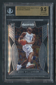 2019 Prizm Draft Picks Zion Williamson Rookie RC BGS 9.5 Gem Mint