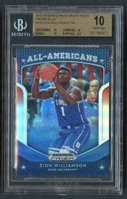 2019 Prizm Draft Picks All Americans Zion Williamson Rookie RC Blue Refractor BGS 9.5 Gem Mint