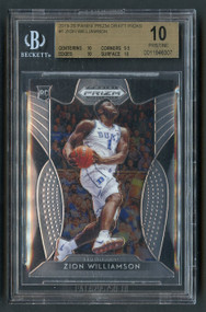2019 Prizm Draft Picks Zion Williamson Rookie RC BGS 10 Pristine