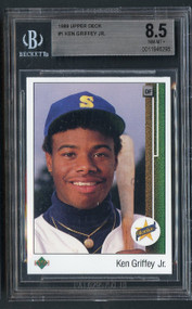 1989 Upper Deck Ken Griffey Jr Rookie RC #1 HOF BGS 8.5