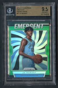 2019 Prizm Emergent Green Ja Morant Rookie RC BGS 9.5 Gem Mint