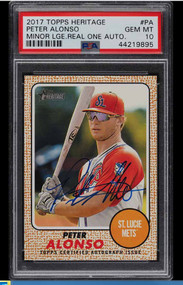 2017 Heritage Real Ones Pete Alonso Rookie RC Auto PSA 10 Gem Mint